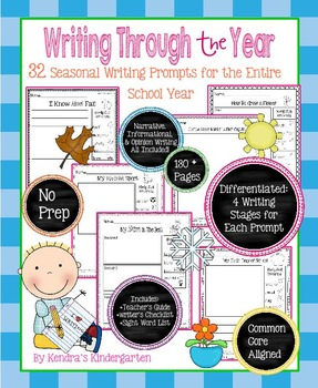 Writing Through the Year: Differentiated Writing Prompts For the School Year