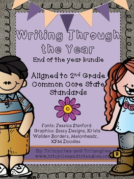 Writing Through the Year (End of Year)- Aligned with CCSS