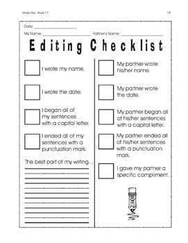 Daily 1st Grade Writing Lessons, Activities, Grammar - Unit 3 - {CCSS Aligned}
