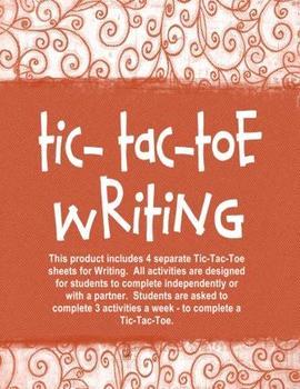 Writing Tic-Tac-Toe Independent Activities