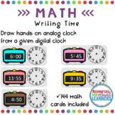 Digital to Analog Time Math Cards