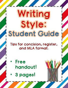 Writing Tips - Handout - Banned Words, Formal Register, and Concision