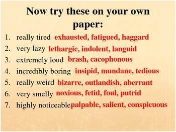 Writing Tips: Help Students Use More Precise Vocabulary