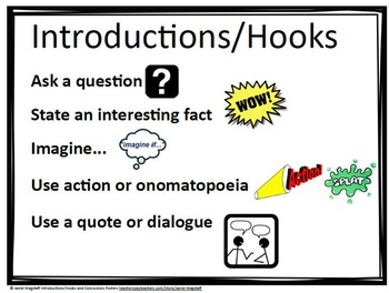 Writing Posters: Introductions/Hooks and Conclusions