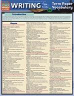 Writing Tips: Term Paper Vocabulary - QuickStudy Guide