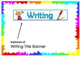 Writing Title Banner