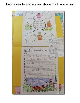 Writing To A Prompt ~ Persuasive Letter School Break / Vacation