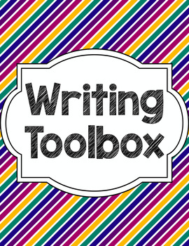 Writing Tools Notebook in Jewel Stripes (Gray and White Version Included)
