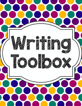Writing Tools Notebook in Jewel Dots (Gray and White Version Included)