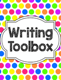 Writing Tools Notebook in Bright Dots (Gray and White Version Included)