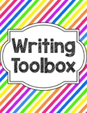 Writing Tools Notebook in Bright Stripes (Gray and White Version Included)