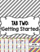 Writing Tools Notebook in Primary Stripes (Gray and White Version Included)