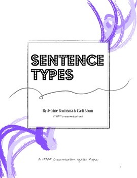 Writing Tools - Sentence Types (Instruction & Practice - COMMON CORE ALIGNED)