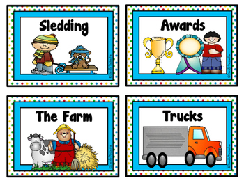 Writing Topic Cards - SET 2