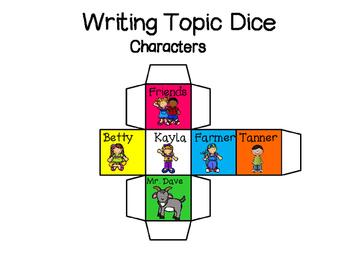 Writing Topic Dice