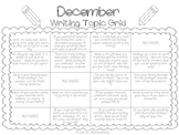 Writing Topic Grid-DECEMBER