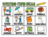Writing Topic Ideas Chart