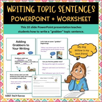topic sentences writing lesson interactive powerpoint worksheet. Black Bedroom Furniture Sets. Home Design Ideas