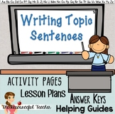 Writing Topic Sentences - Lessons with Activity Pages, Les