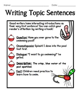 Topic Sentences Packet