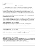 Writing Topic Sentences Worksheet