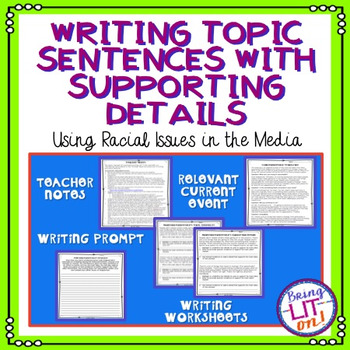 FREEBIE! Writing Topic Sentences with Supporting Details U