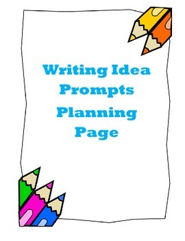 Writing Topic and Drawing Box with Planning Lines