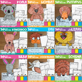 Australian Animals Writing Papers and Toppers Bundle