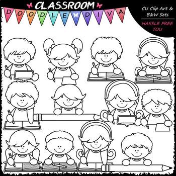 Writing Topper Kids - Clip Art & B&W Set