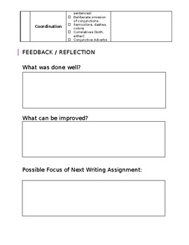 Writing Tracker and Differentiation Rubric