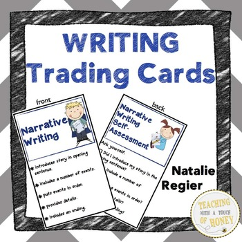 Writing Trading Cards: Mini Anchor Charts and Self-Assessm