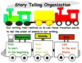 Writing Train Beginning Middle End with Transition Words TC