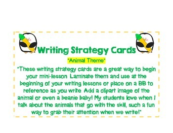 Writing Trait Cards