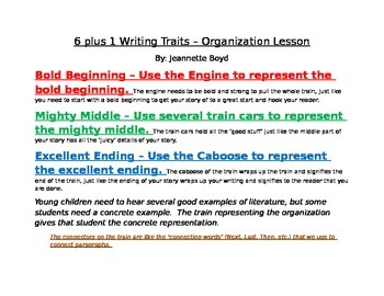 6 + 1 Writing Trait - Organization