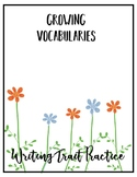 Writing Trait Practice: Vocabulary Flowers