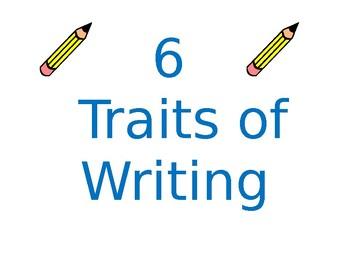 Writing Traits Anchor Chart