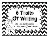 Writing Traits Bulletin Board Set {Black and White Chevron}