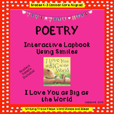 Poetry Interactive Lapbook Using Similes: I Love You as Bi