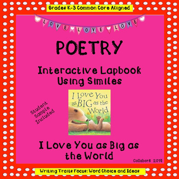 Writing Traits Interactive Simile Lap Book: Poetry