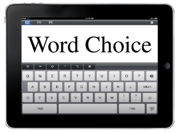 Writing Traits Ipad/Ipod Board