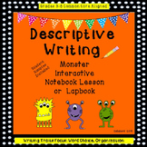 Monster Descriptive Writing Interactive Notebook or Lapbook
