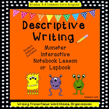 Monster Descriptive Writing Interactive Notebook or Lapbook
