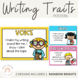 Writing Traits Posters - 6+1 {Rainbow Theme}