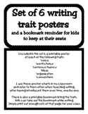 Writing Traits Posters in Black & White with Student Bookmarks