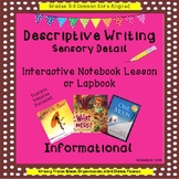 Descriptive Writing Sensory Detail Interactive Notebook Lesson and Lapbook