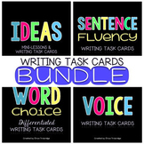 Writing Traits Task Card BUNDLE {Ideas, Word Choice, Sentence Fluency, Voice}