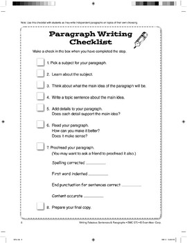 Writing Traits and Checklists
