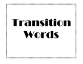 Writing: Transition Words Posters