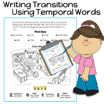 Writing Transitions and Using Temporal Words Writing Activities
