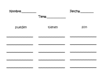 Writing Tree Map Eng/Sp